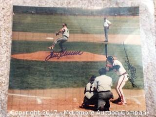 "Tom Seaver/Reggie Jackson Autographed Matted 8"" x 10"" Photo with COA"