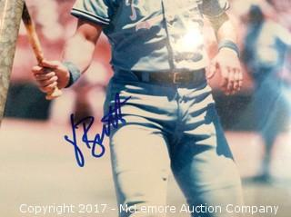 "George Brett Autographed 8"" x 10"" Photo with COA"
