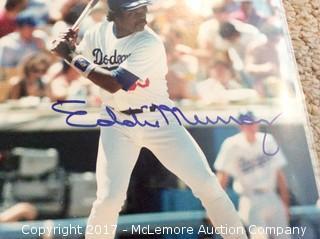 "Eddie Murray Autographed 8"" x 10"" Photo with COA"