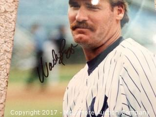 "Wade Boggs Autographed 8"" x 10"" Photo with COA"