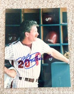 "Mike Schmidt Autographed 8"" x 10"" Photo with COA"