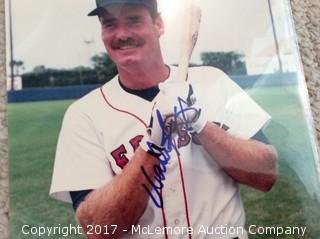 """Wade Boggs Autographed 8"""" x 10"""" Photo with COA"""