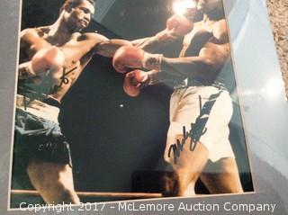 "Muhammad Ali/Ken Norton Autographed Matted 8"" x 10"" Photo, Scoreboard COA"