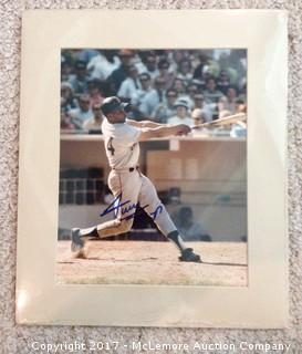 "Willie Mays Autographed Matted 8"" x 10"" Photo, Scoreboard COA"