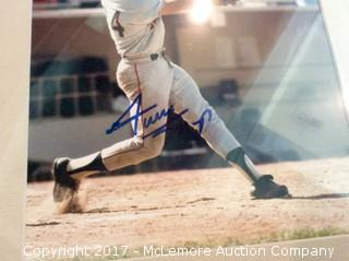 """Willie Mays Autographed Matted 8"""" x 10"""" Photo, Scoreboard COA"""