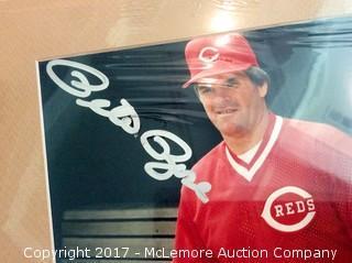 "Pete Rose Autographed Matted 8"" x 10"" Photo, Scoreboard COA"
