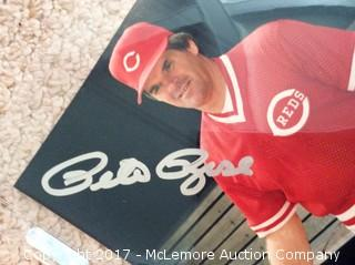 """Pete Rose Autographed 8"""" x 10"""" Photo with COA"""