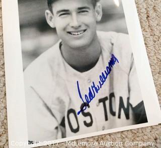 """Ted Williams Autographed 8"""" x 10"""" Photo, Scoreboard COA"""
