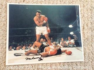 "Muhammad Ali Autographed 8"" x 10"" Photo with COA"