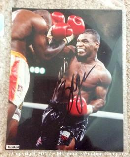 "Mike Tyson Autographed 8"" x 10"" Photo with COA"