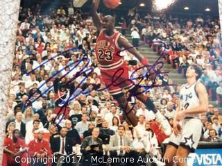 "Michael Jordan Autographed 8"" x 10"" Photo with COA"