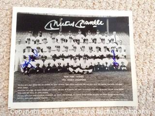 Mickey Mantle/Yogi Berra/Whitey Ford 1961 Yankees Autographed Team Photo, Scoreboard COA