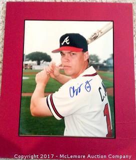 "Chipper Jones Autographed 8"" x 10"" Photo, Scoreboard COA"