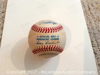 Ted Williams Autographed Baseball, Scoreboard COA