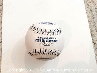 Yogi Berra/Don Larson 2008 Yankees Stadium Baseball with COA