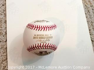 Matt Cain Autographed 2010 World Series Official Game Baseball with COA
