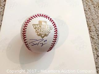 Buster Posey Autographed 2010 World Series Official Game Baseball with COA