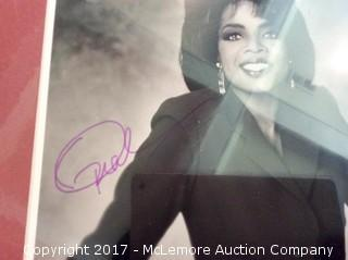 """Oprah Winfrey Autographed Matted 8"""" x 10"""" Photo with Hollywood COA"""