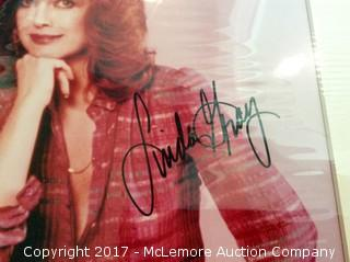 """Linda Gray Autographed Matted 8"""" x 10"""" Photo with Hollywood COA"""