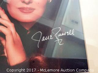 """Jane Russell Autographed Matted 8"""" x 10"""" Photo with Hollywood COA"""