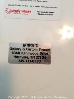 "Alan Jackson Autographed ""Hands of Nashville"" Print"