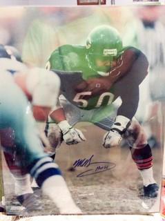 "Mike Singletary Autographed 16"" x 20"" Photo"
