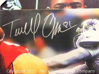 "Terrell Owens/George Teague Autographed 16"" x 20"" ""Defender of the Star"" Canvas Print with Global Authentics COA"