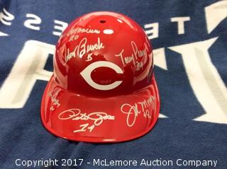Big Red Machine Autographed Full Sized Authentic Cincinnati Reds Batting Helmet with Buckeye Collectibles COA