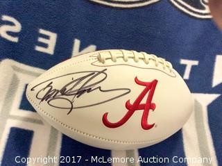 Derrick Henry Autographed Alabama Football with Steiner Sports COA/Hologram