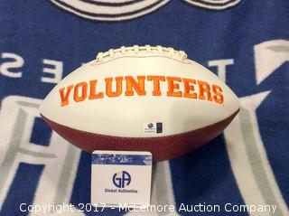 Peyton Manning Autographed Tennessee Vols Football with Global Authentics COA/Hologram