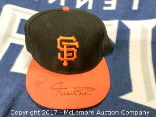 Willie Mays Autographed San Francisco Giants Game Hat