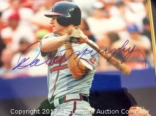 """Dale Murphy Autographed 16"""" x 20"""" Framed and Matted Photo"""