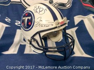 Tennessee Titans Autographed Game-Issued Helmet with Steve McNair/Eddie George/Jeff Fisher/Jevon Kearse Autographs