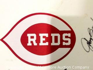 Big Red Machine Autographed Team Uniform Logo with Bench/Rose/Anderson/Morgan/Perez Autographs