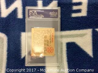Cliff Mapes 1950 Bowman Card with PSA Authentication