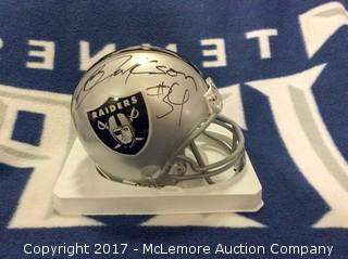 Bo Jackson Oakland Raiders Mini Helmet with Global Authentics COA/Hologram
