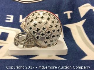Eddie George Autographed Ohio State Mini Helmet with Global Authentics COA/Hologram