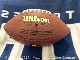Kurt Warner Autographed St. Louis Rams Football with Global Authentics COA/Hologram