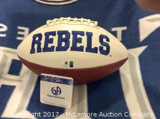 Eli Manning/Archie Manning Autographed Ole Miss Football with Global Authentics COA/Hologram