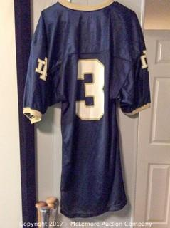 Joe Montana Autographed Notre Dame Game-Issued Authentic Jersey