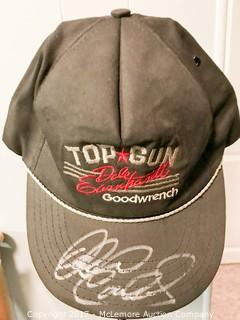Dale Earnhardt, Sr. Autographed Top Gun Goodwrench Tema Hat with Global Authentics COA/Hologram