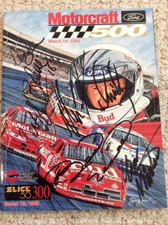 1993 Atlanta Speedway Race Program signed by Elliot/Allison/Kulwicki/Bodine/Martin