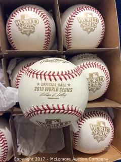 One Dozen 2010 World Series Baseballs, Unused Game Balls