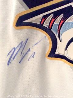 Pekka Rinne/Mike Fisher Autographed Nashville Predators Jersey with Global Authentics COA/Hologram