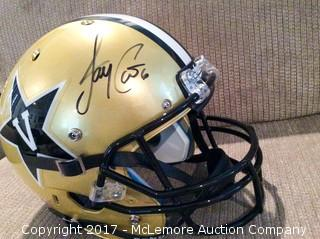 Jay Cutler Autographed Full Size Vanderbilt Commodores Football Helmet
