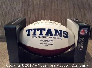 Jevon Kearse Autographed Tennessee Titans Football with Global Authentics COA/Hologram
