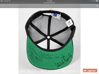 Willie Mays/Orlando Cepeda/Juan Marichal Autographed San Francisco Giants Cap with JSA Auction Letter