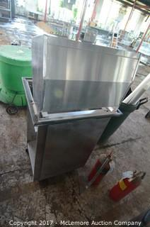 Lakeside Rolling Stainless Steel Glass Caddy and Dispenser