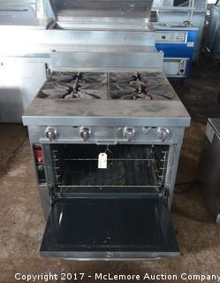 Southbend Platinum Commercial Gas Range with Space Saver Oven
