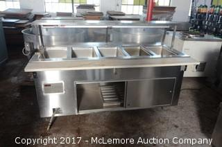 Volrath Stainless Steel Rolling Hot Buffet